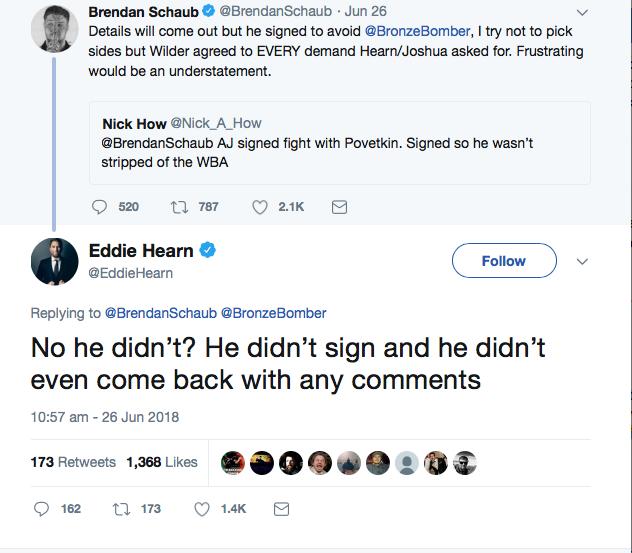 Hearn vs Wilder/Espinoza – Round byRound